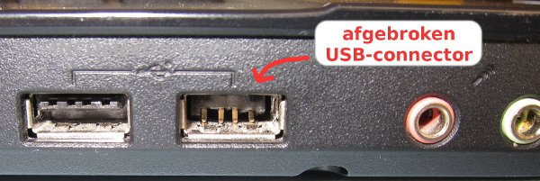 USB-aansluiting defect